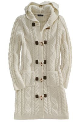 Women's Wool Long Toggle Sweater Coat from Lands' End ...