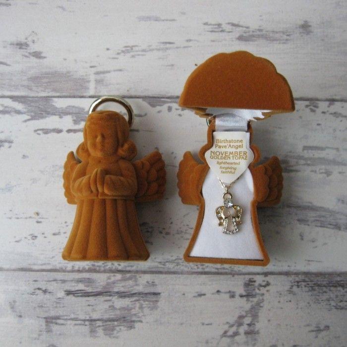 Guardian Angel November Necklace