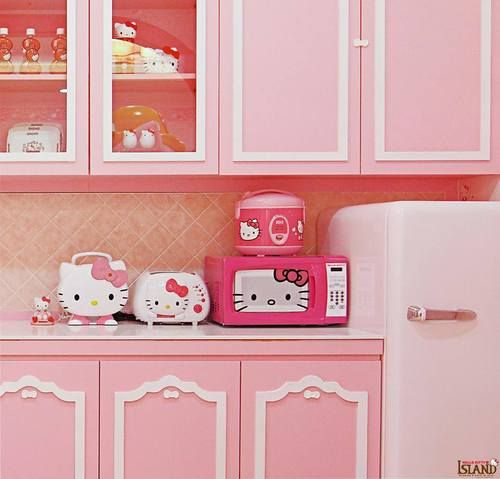 I use have all this hk stuff for kitchen before expect the microwave...but i got rid of it!! People copy my style too much :)