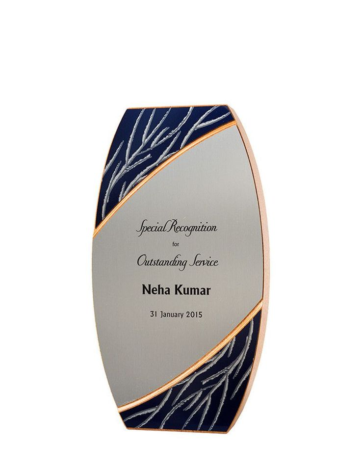 """Our FSC-certified Invierno Award (Spanish for """"winter"""") is made from FSC-certified mahogany. Can feature color text or logo. Made in America."""