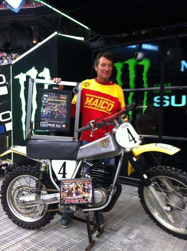 Vintage Maico Dirt Bike - Steve Stackable honored at ...