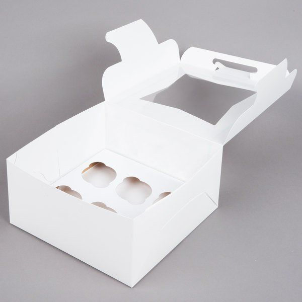 10 X 10 X 5 White Window Cupcake Box With 6 Slot Reversible Insert 10 Pack In 2020 White Windows Cupcake Boxes 10 Things