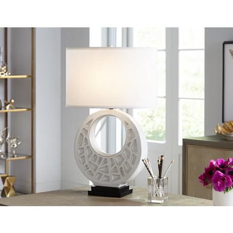 1000 ideas about white table lamp on pinterest lamp inspiration table lamps and contemporary - Ceramic pedestal table base ...