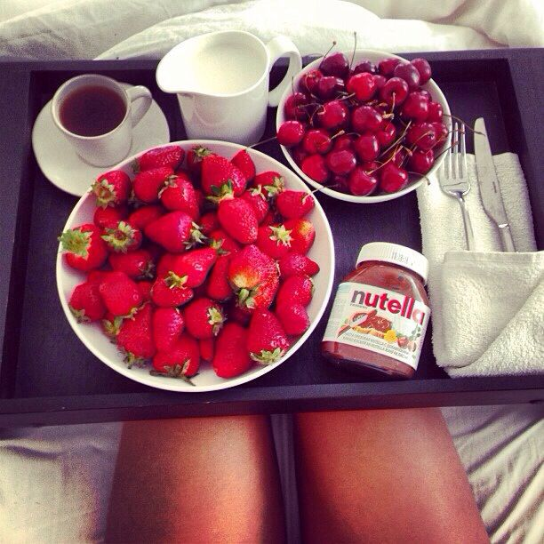 This would be PERFECT, minus the cherries, while watching a movie!