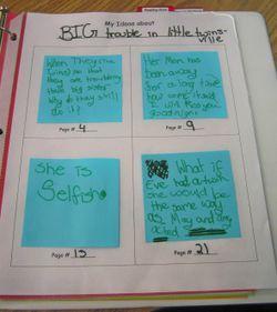 Beth Newingham's Reader's Notebook (w/ post-it tracker)