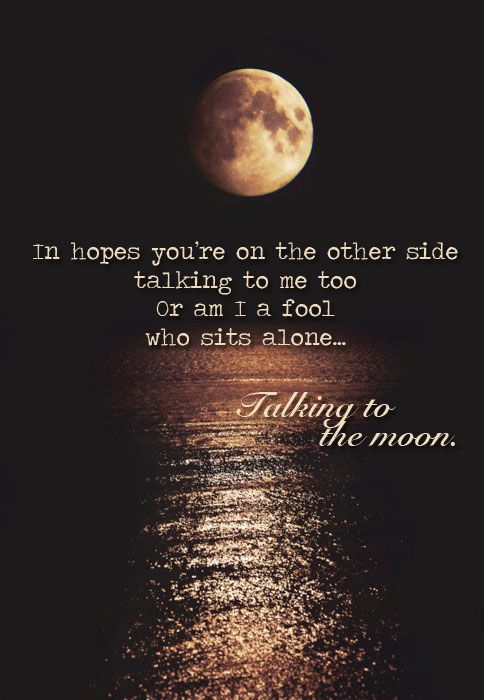 Talking to the Moon - Bruno Mars One of my all time favorite songs. <3