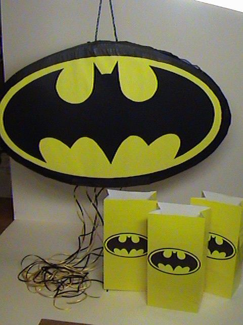 BATMAN pinata Birthday Party Goody Bags