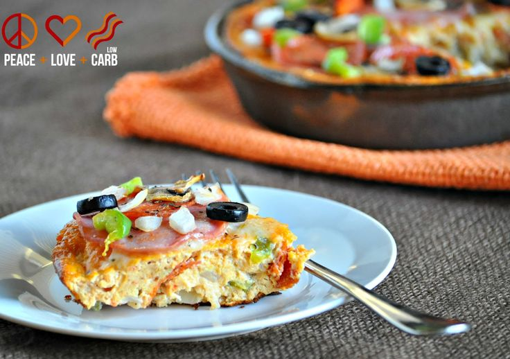 Pizza Frittata - Low Carb, Gluten Free | Peace Love and Low Carb