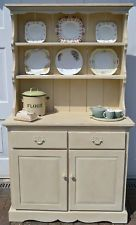 Shabby Chic Pine Welsh Farmhouse Dresser painted with Annie Sloan Old Ochre