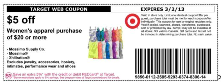 Target 5 off 30 printable coupon