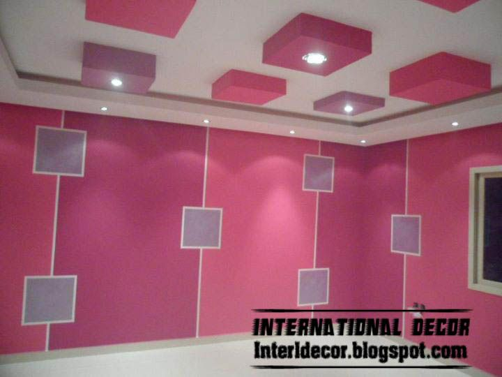 Living room ceiling lights modern kids room gypsum for Gypsum colour