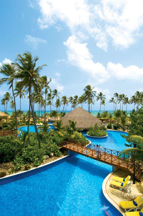 The main pool at Dreams Punta Cana resort in the Dominican Republic