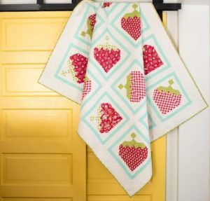 Strawberry Picking Quilt Kit - a lovely quilting kit