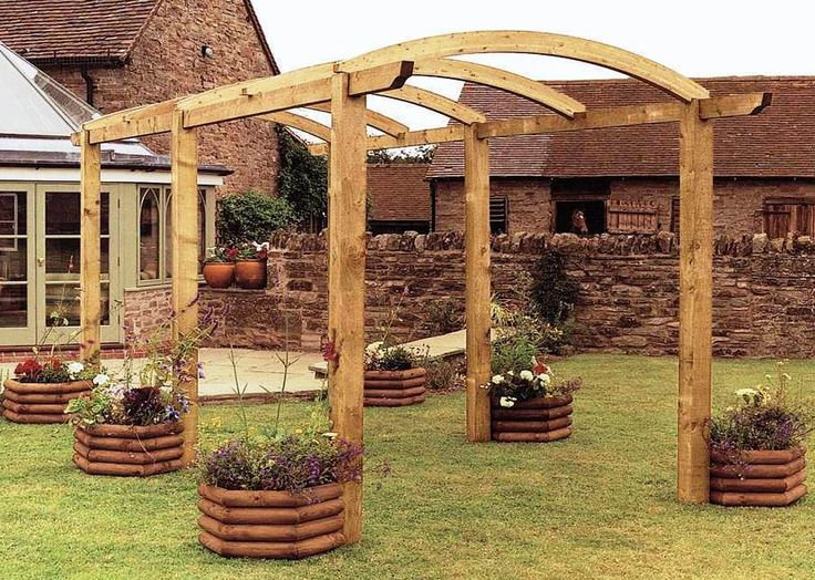 GARDEN STRUCTURE TIMBER WOODEN PERGOLA The Grange Colonnade Pergola 27m