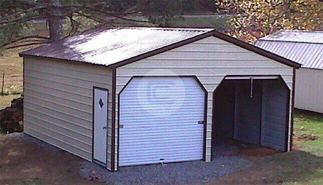 42x41 Garage Workshop With Porch 42 Wide Workshop Metal Garages Shed Metal Buildings