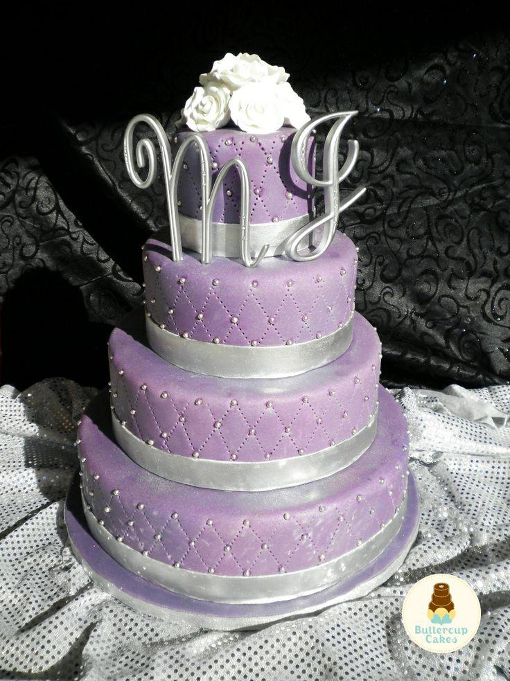 63 Best Wedding Purple Amp Silver Images On Pinterest