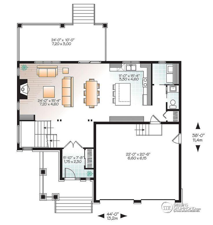 73 best plans maison images on Pinterest Arquitetura, Cottage home - faire une maison avec sketchup