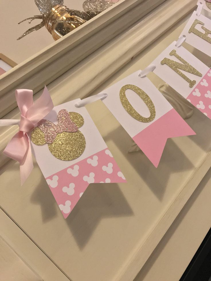 Minnie Mouse Birthday Banner   Minnie Mouse 1st Birthday Party Decorations   Pink Minnie Mouse Banner  first Birthday Girl Banner by sparkleeverythingus on Etsy https://www.etsy.com/listing/517506303/minnie-mouse-birthday-banner-minnie