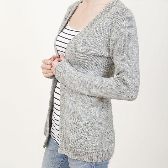 Simple Knit Cardigan Pattern - Full Zip Sweater