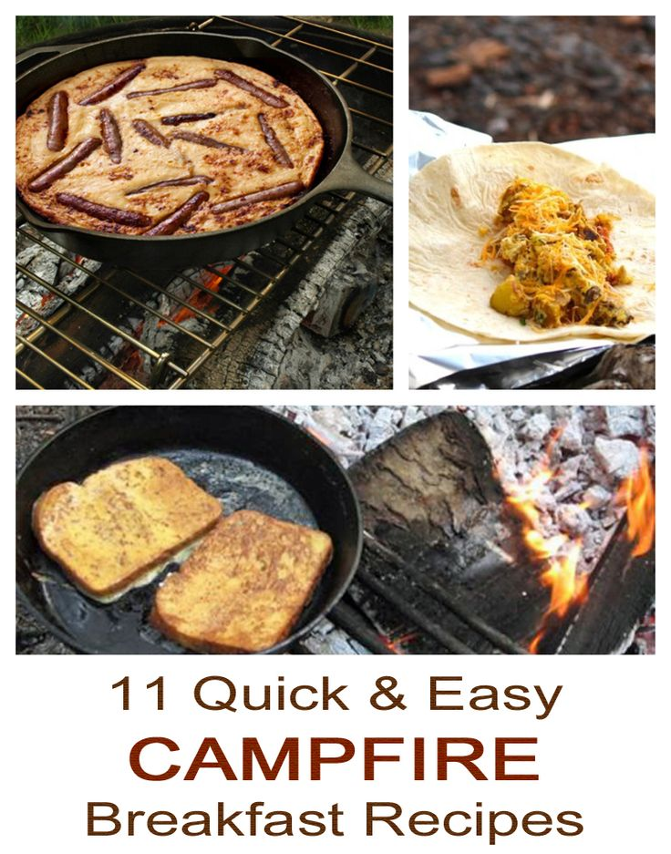 11 quick, simple and easy campfire breakfast recipes #camping