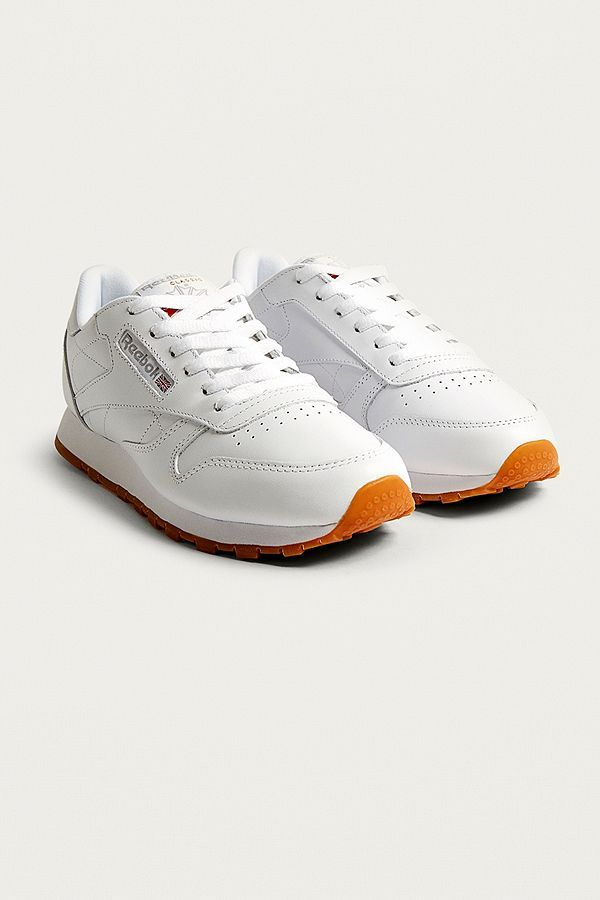 Slide View: 2: Reebok Classic White Leather Trainers
