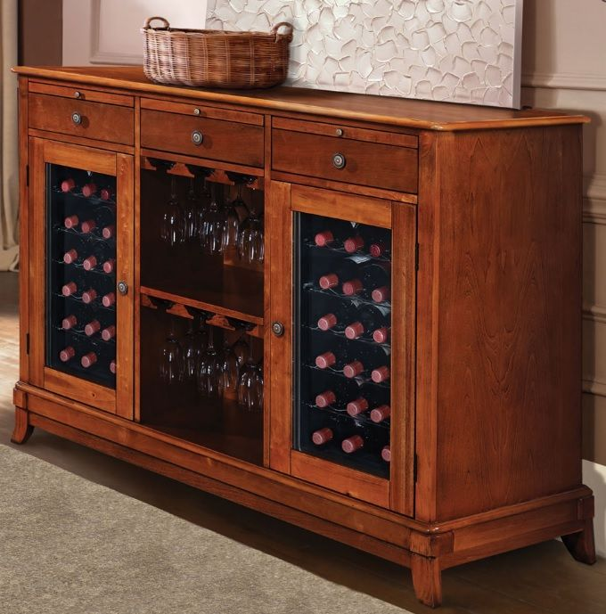 Wine Credenza With Refrigerator. Great Wine Cooler Cabinet Furniture. #wine #winecabinet