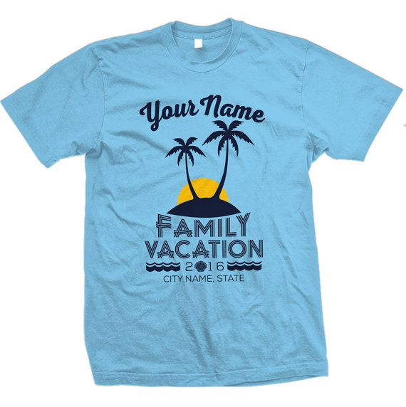 Custom Family Beach Vacation Shirts by ChattanoogaTshirt on Etsy