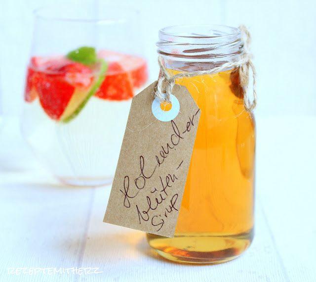 Rezepte mit Herz   ♥: Holunderblütensirup ♡