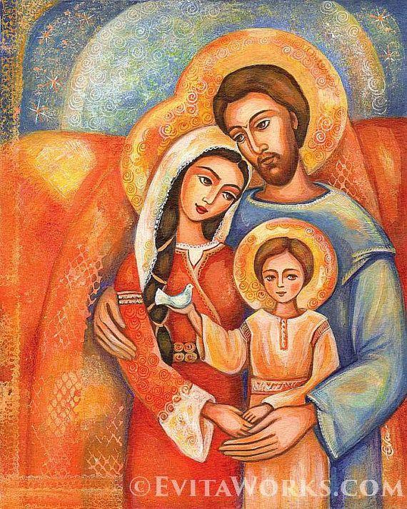 Sagrada Familia Virgen María Jesús madre hijo por EvitaWorks