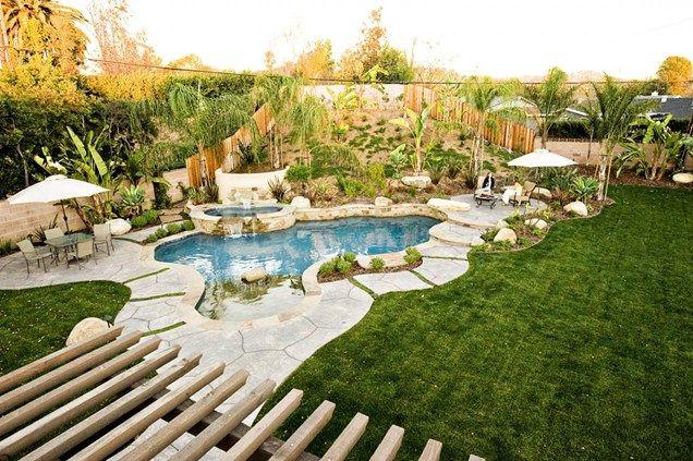Tropical Backyard Pool Design Swimming Pool Lifescape Designs Simi Valley, CA