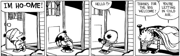 Calvin and Hobbes Comic Strip, January 10, 2013 on GoComics.com