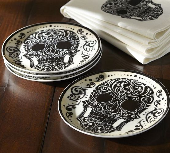 Pottery Barn's Day Of The Dead Sets - Skullspiration.com - skull designs, art, fashion and more