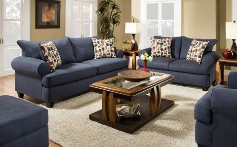 Giselle Loveseat Blue from Huffman Koos