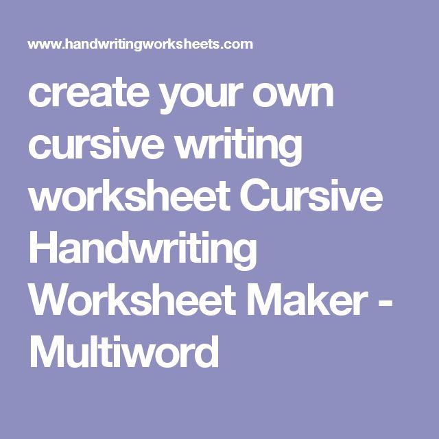 tracing worksheet maker laveyla – Handwriting Worksheet Maker