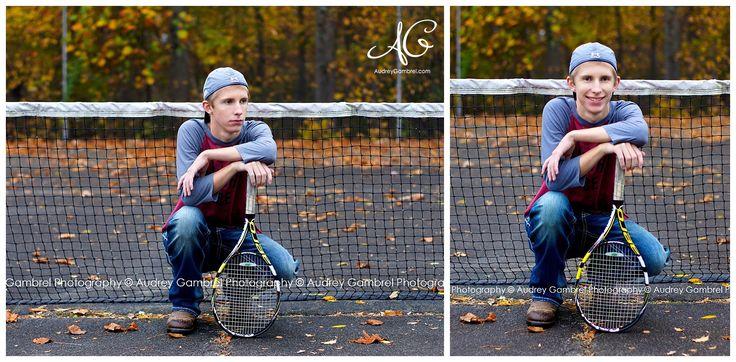 High School Senior Portraits, Senior Boy, Tennis