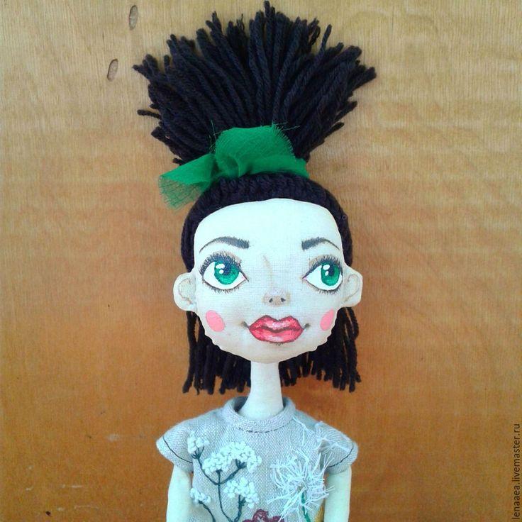 Купить ФЛОРЕНЦ Текстильная кукла - ручная вышивка, шляпа, коллекционная кукла, авторская кукла