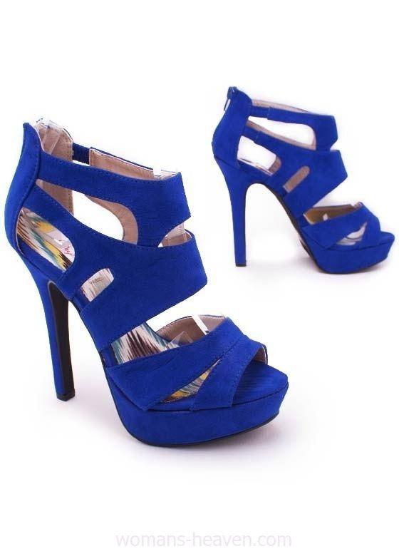 Blue heels image,moda,style, fashion, high heels, image, photo, pic, pumps, shoes, stiletto, women shoes http://www.womans-heaven.com/blue-heels-image-13/