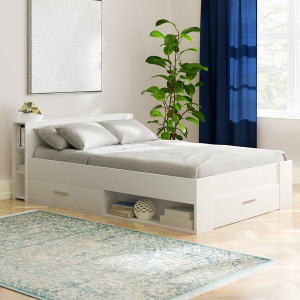 Bett Pocket Mit Stauraum 140 X 190 Cm Bett Mit Aufbewahrung Bett Zimmer Einrichten