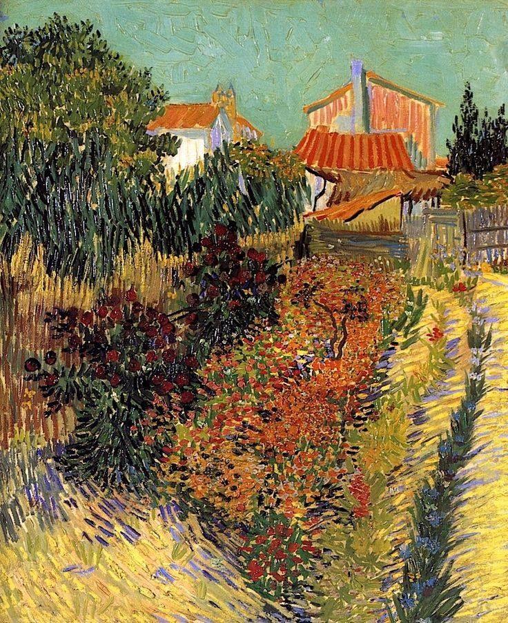 """Vincent van Gogh, """"Garden Behind a House"""" (1888) https://scontent-a-lhr.xx.fbcdn.net/hphotos-ash3/543810_649161545102829_833153487_n.jpg"""