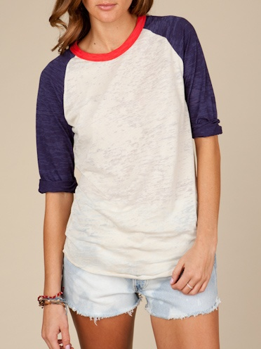 Even the League Baseball Tee has style when it comes to @Alternative Apparel