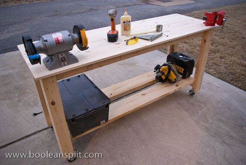 Movable Workbench Plans - WoodWorking Projects & Plans