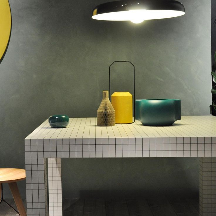 Deep teal in the @zanotta_spa's exhibition! They are our candleholders Pomo by Maria Jennifer Carew and vase Moai by Raul Frollà! Thanks to @studiosalaris by incipitlab