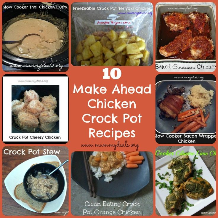 10 Make Ahead Chicken Crock Pot Recipes