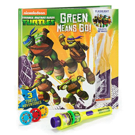 Teenage Mutant Ninja Turtles Interactive Storybook With 3-D Projection Light