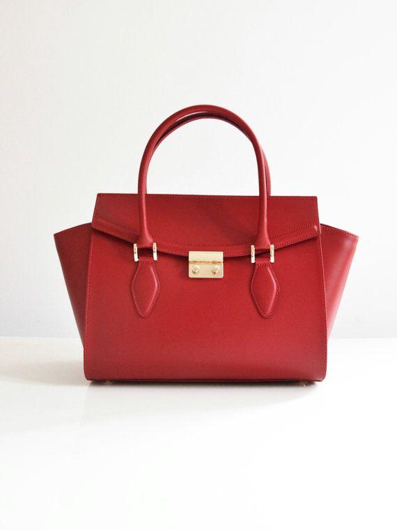 Italian handbag high quality with gold by TuscanyLeatherIdeas
