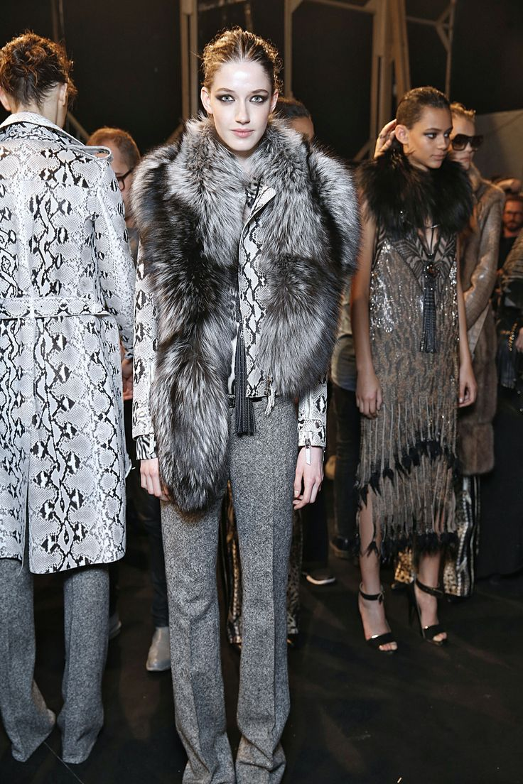 Backstage at Roberto Cavalli A/W 2014