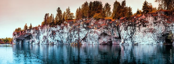 Ruskeala. water-filled quarry. by Alexander Zheglov on 500px