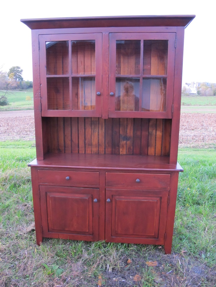 High Quality Want To Restrain My Brown Hutch To This Distressed Barn Red