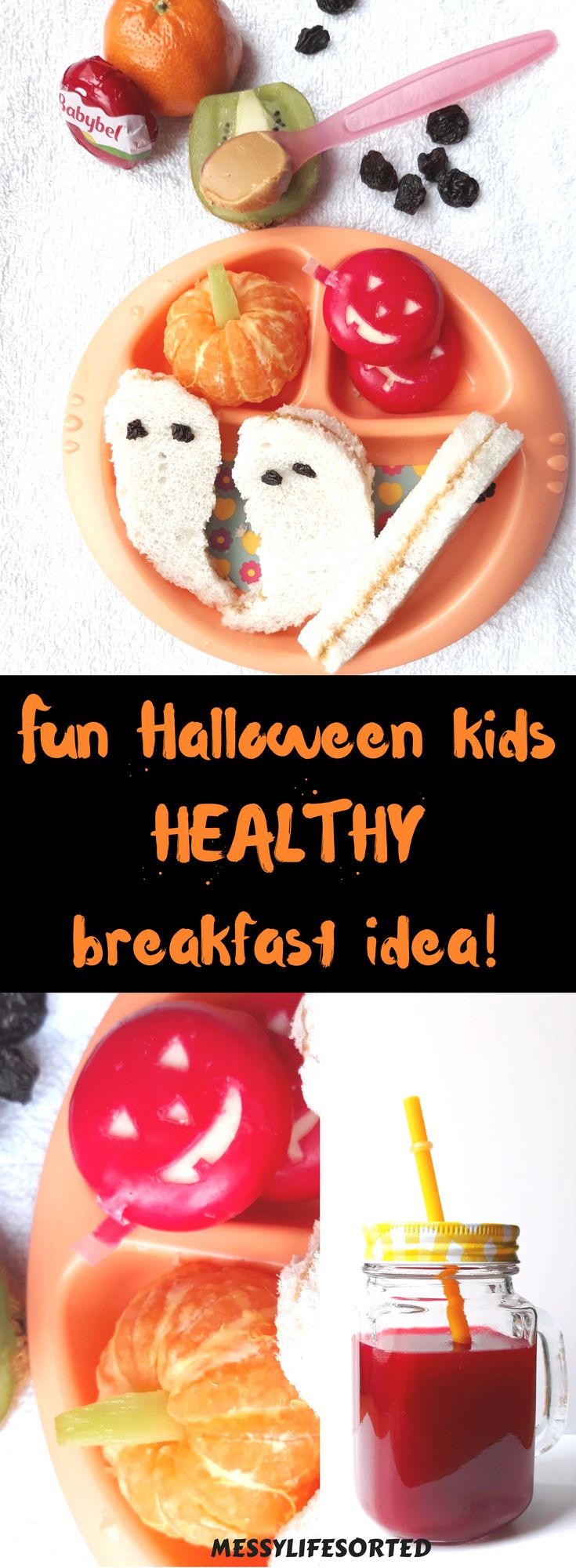 A healthy start to Halloween with this fun healthy breakfast idea for kids