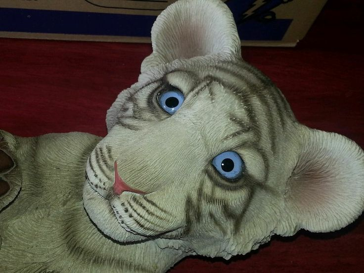 Realistic white tiger cub statue | Collections | Pinterest ...